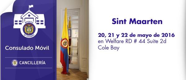 El Consulado de Colombia en Willemstad estará con su unidad móvil en Sint Maarten, los días 20, 21 y 22 de mayo de 2016