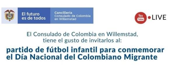 Siga la celebración del día del Migrante en la web del Consulado de Colombia en Willemstad