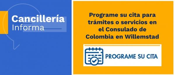 Programe su cita para tramites o servicios en el Consulado de Colombia 2021