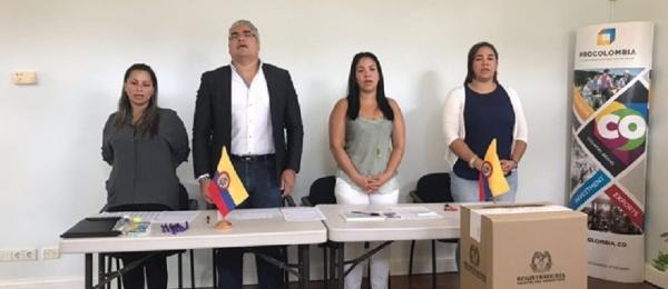 Inició la jornada electoral presidencial 2018 para la segunda vuelta en el Consulado de Colombia en Willemstad